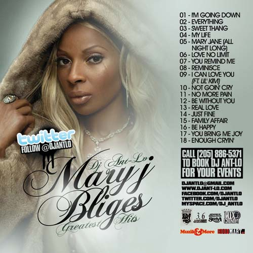 DJ Ant-Lo - Mary J  Blige's Greatest Hits | MixtapeTorrent com