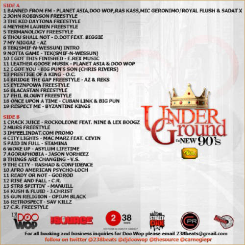 Dj doo wop underground the new 90s for House music tracklist